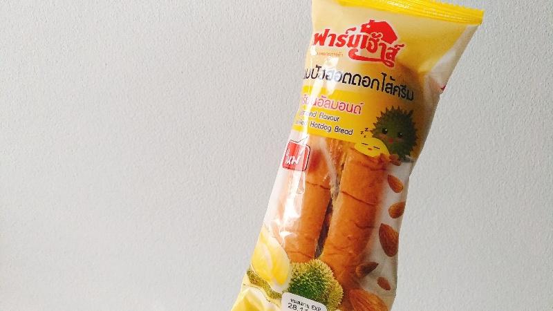 タイのセブンイレブンのドリアンパン